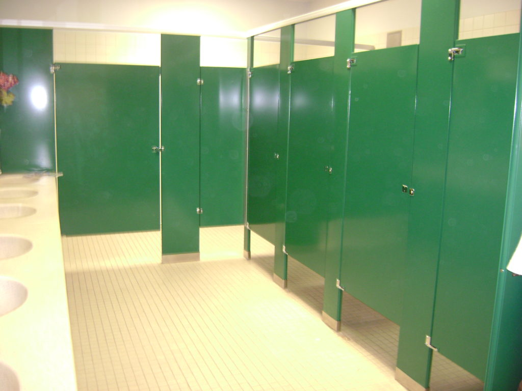 Bathroom Partitions at Retail Store in Corpus Christi TX