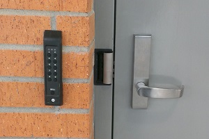 Hollow Metal Doors with Keypad Entry